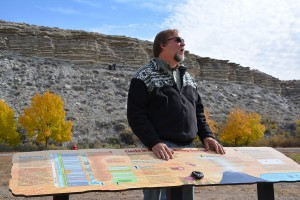 [Photo: Brad Sageman, of Northwestern University, at Pueblo State Park in Colorado.]